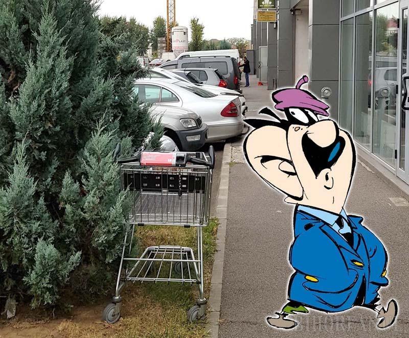 Cleptomani în cartier: Cum a făcut paşi un cărucior de la Kaufland Ioşia până în cartierul Luceafărul