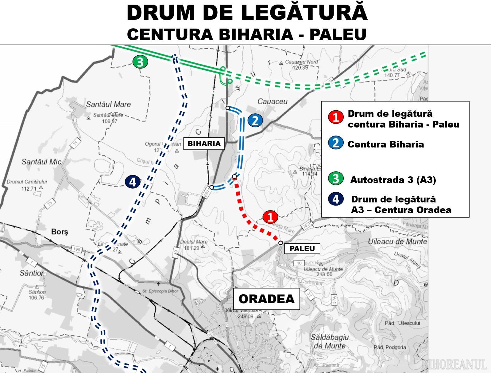 Drum nou în Zona Metropolitană Oradea, între Paleu și Biharia, dar și piste pentru bicicliști în jurul orașului