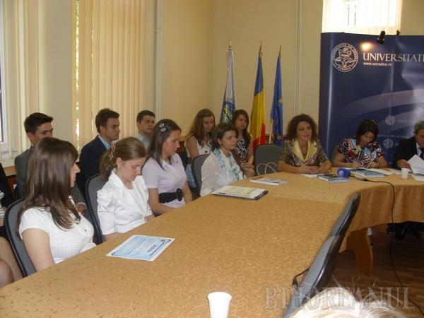 Studenţi cu rezultate, la Universitatea Oradea