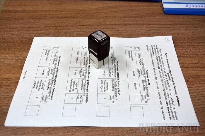 Dezinteresaţi: Votanţi puţini la alegerile parţiale din Universitatea orădeană (FOTO)