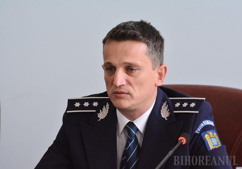 E oficial: Comisarul şef Alin Haniş rămâne şef al Poliţiei Bihor