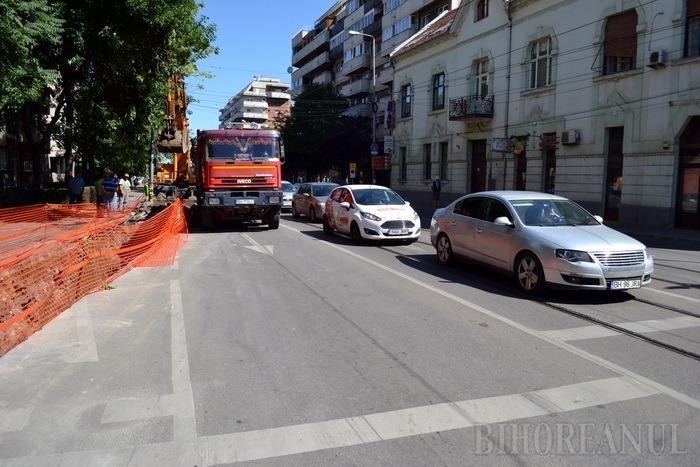 Încep ambuteiajele! Strada Aviatorilor va fi închisă pentru lucrări până la sfârşitul lunii (FOTO)
