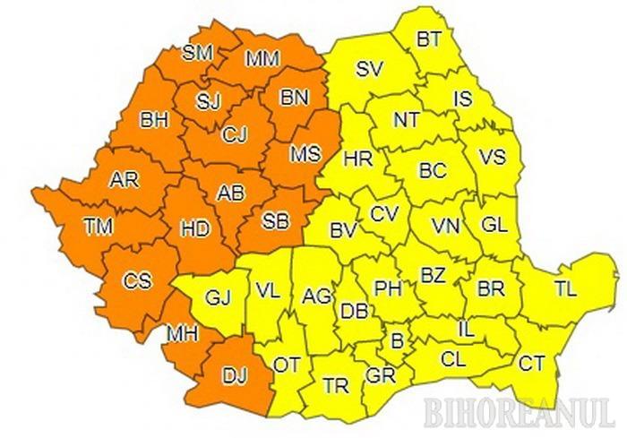 Alertă meteo: Cod PORTOCALIU de caniculă în Bihor!