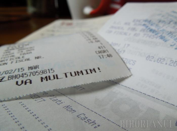 Loteria bonurilor fiscale: Sunt câştigătoare bonurile de 312 lei, din 11 ianuarie