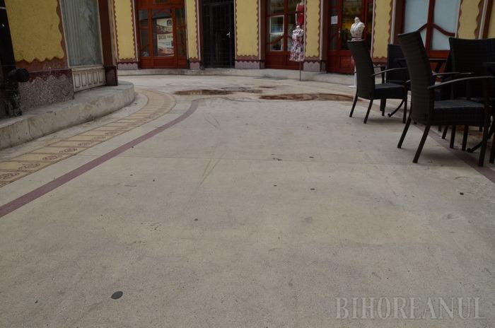 Se rade tot! Primăria mai face o încercare de mozaicare a Pasajului Vulturul Negru (FOTO)