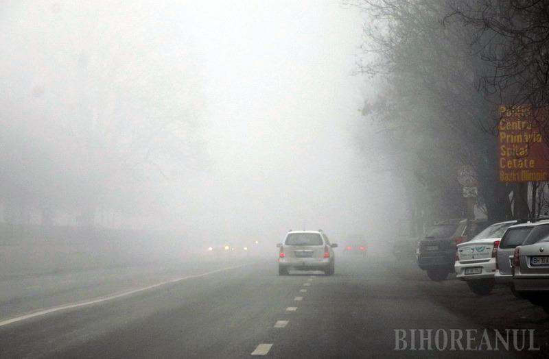 Atenţie, şoferi! Cod galben de ceaţă în Bihor şi alte două judeţe