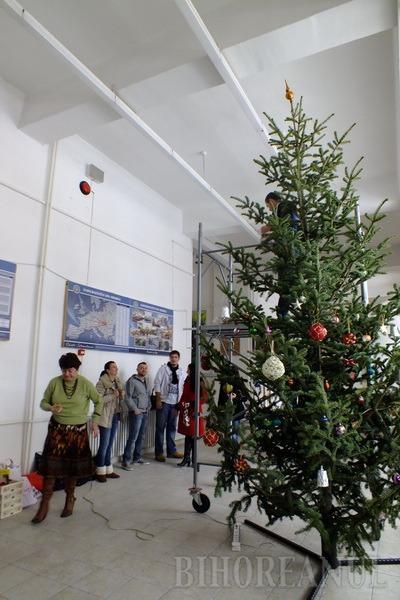 Studenţii orădeni au pregătit Universitatea pentru Crăciun (FOTO)