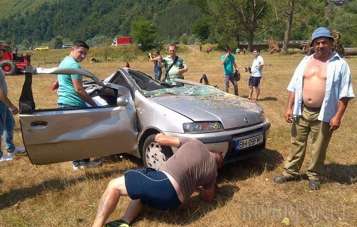 Bărbatul de 37 de ani din Oradea se afla într-o maşină Fiat Punto (foto) alături de iubita sa