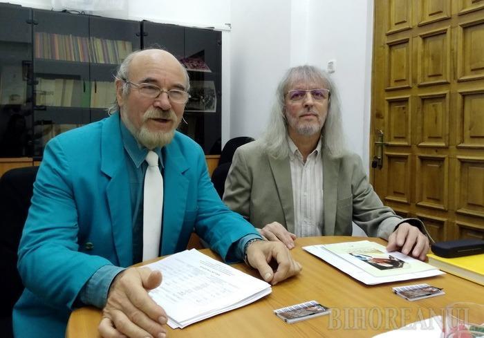 Meleg Vilmos (stânga), noul director al Filarmonicii de Stat Oradea, şi Vasile Foica (dreapta), directorul artistic al instituţiei
