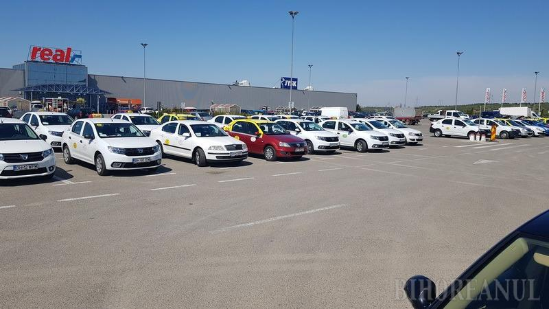 Protest Taximetristi: Incolonati Pe Centura: Peste 200 De Taximetristi Din