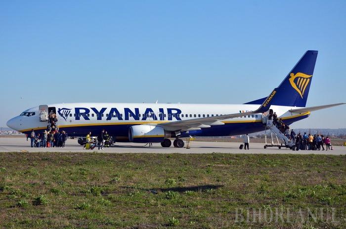Promoţie la zboruri: Ryanair anunţă bilete de la doar 2,99 euro în luna septembrie, la zborurile de pe Aeroportul Oradea