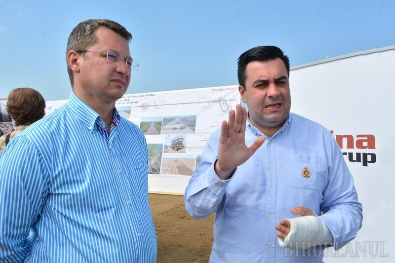 """Ministrul Transporturilor în Bihor, pe șantierul autostrăzii Transilvania: """"Până la finalul anului vom da în folosință lotul Borș – Biharia"""" (FOTO / VIDEO)"""