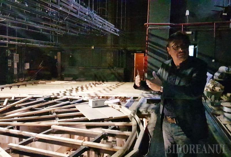 Daniel Vulcu susţine că scena rotativă a Teatrului a fost proiectată greşit. Cum îi răspunde şefa Teatrului Szigligeti (VIDEO)