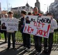 Manifestaţie pentru Norbert, tânărul mort din neglijenţa medicilor (FOTO)