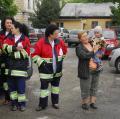180 de angajaţi ai Ambulanţei au protestat în curtea instituţiei (FOTO)