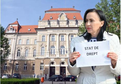 """STAT DE DREPT? Inspecţia Judiciară """"ocupă"""" Palatul de Justiţie din Oradea. Mai mulţi judecători bihoreni sunt vizaţi într-o anchetă a cărei """"eroină"""" este judecătoarea Crina Muntean (foto), căreia i-ar fi acordat în exclusivitate, contrar legii, atribuţiile de judecător de drepturi şi libertăţi, astfel încât a putut aproba pe bandă rulantă toate cererile procurorilor DNA de supraveghere a unor judecători bănuiţi de corupţie"""