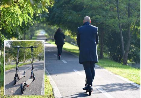 """SIMPLU ŞI """"COOL"""". Cu un design minimalist şi acţionate de motoare alimentate de o baterie, trotinetele electrice sunt considerate de tineri o modalitate """"cool"""" de plimbare. Călătoria cu un asemenea vehicul nu presupune un efort fizic, ci doar deprinderea menţinerii echilibrului pe """"placă"""""""