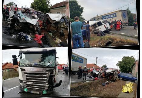 Doi oameni au murit şi 7 au fost răniţi pe 1 august la Uileacu de Criş în cel mai sângeros accident produs vara aceasta pe DN1 în Bihor, după ce şoferul unui microbuz s-a angajat într-o depăşire neregulamentară şi a intrat într-un TIR. A fost doar unul din cele 6 accidente grave din ultima lună, numărul total ridicându-se, din ianuarie şi până acum, la 26. Şi n-au trecut decât 8 luni din an...