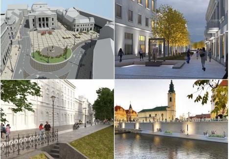 ALT ORAŞ. Patru proiecte care vor schimba centrul Oradiei: pietonalizarea Pieţei Ferdinand, a străzilor Aurel Lazăr şi Libertăţii, respectiv realizarea unei promenade noi pe malul stâng al Crişului Repede