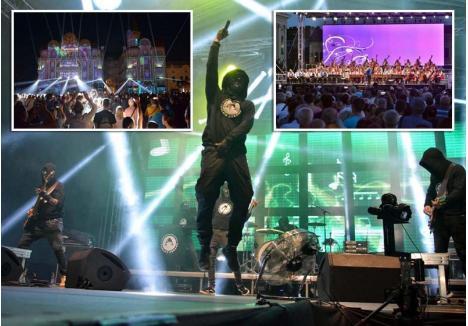 PLIN DE VIAŢĂ. 2018 a fost generos în evenimente care au scos orădenii din case, între cele mai populare fiind concertul orchestrei ţigăneşti cu 100 de membri din Budapesta, proiecţiile de pe Palatul Vulturul Negru precedate de concerte de muzică de film şi Toamna Orădeană care a umplut la maximum curtea Cetăţii