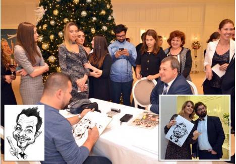 """COADĂ LA CARICATURI. Săptămâna trecută, Avram Iancu i-a desenat pe invitaţii Galei Premiilor lui Bihorel, înşiruiţi la coadă pentru a-i fi modele. Toţi au fost încântaţi de rezultat şi mulţi şi-au înlocuit poza de profil pe Facebook cu portretele semnate """"Avram 2018"""""""