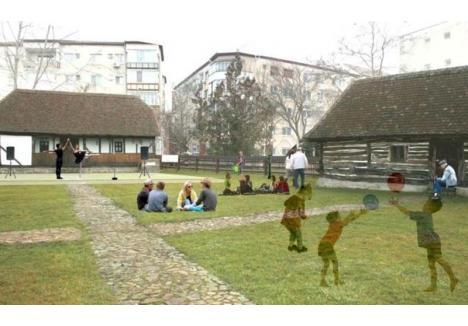 CASE ÎNTRE BLOCURI. Unul dintre cele mai inedite proiecte propuse presupune amenajarea unui parc etnografic lângă Liceul Onisifor Ghibu, care ar urma să aibă inclusiv două case tradiţionale