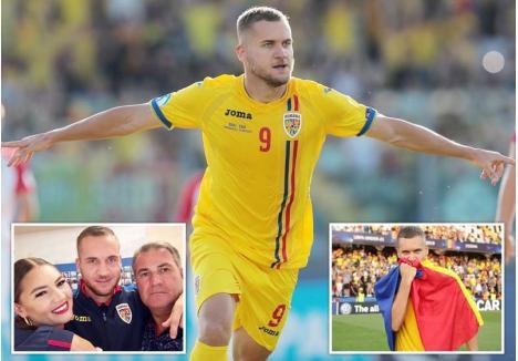 ATACANTUL AŞTEPTAT. Încurajat din tribune de tatăl şi sora sa, George Puşcaş a avut un EURO excelent, devenind golgheterul României şi al doilea cel mai bun marcator al turneului