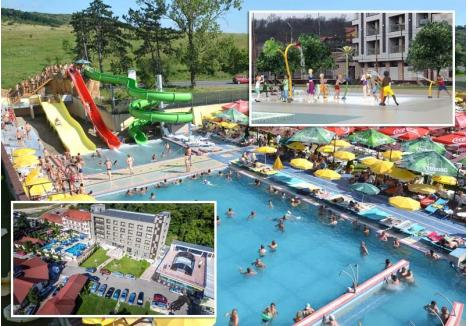 MAI MULTĂ DISTRACŢIE! Aquapark-ul President din Felix îşi va dubla din luna iulie capacitatea, prin extinderea incintei cu încă un hectar de teren, pe care vor fi amenajate tobogane de 14 metri, din care unul de tip pendul, unic în România, un bazin semiolimpic, dar şi o zonă de splash cu jocuri de apă pentru copii