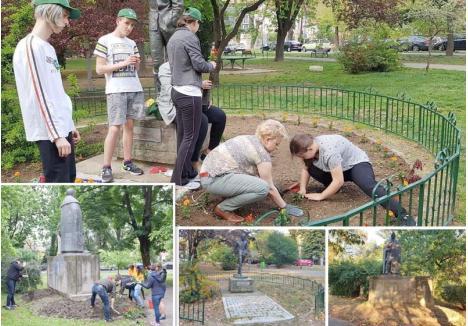 MUNCĂ ÎN ZADAR. În aprilie, membri ai UDMR au plantat cărăjele la statuia poetului József Attila din Parcul Petőfi, iar o lună mai târziu, voluntarii Asociaţiei Civice Maghiare au sădit salvii la monumentul lui Bethlen Gábor, din acelaşi parc. Munca voluntarilor se vede clar în pozele pe care le-au făcut, în timp ce Adenandra, firma angajată de Primărie să îngrijească parcul, doar se laudă că a sădit flori, fără a avea dovezi. Cert este că azi în parc n-a mai rămas nicio plantă: pentru că Adenandra nu le-a udat, toate florile s-au uscat!