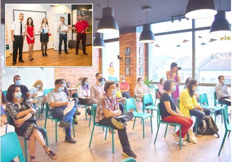 CA ÎNTRE PRIETENI. Reuniunile Toastmasters Oradea au loc în fiecare seară de miercuri la centrul Comuniteca din complexul Crişul. În urmă cu două săptămâni, întâlnirea a fost specială, deoarece, după luni bune, s-a ţinut un concurs de discursuri umoristice, fiecare concurent având ocazia să-şi exerseze nu doar abilităţile de vorbitor, ci şi capacitatea de a stârni zâmbete
