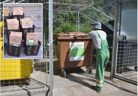 ALŢI SACI. Programul pilot a mai scos la iveală două lucruri: containerele maro oferite asociaţiilor, de 1,1 mc, sunt prea mari pentru fracţia bio, iar sacii de hârtie primiţi de orădeni nu sunt destul de rezistenţi şi se rup sub greutatea biodeşeurilor. RER Vest şi Primăria vor achiziţiona alţi saci, tot biodegradabili, dar dintr-un material mai rezistent