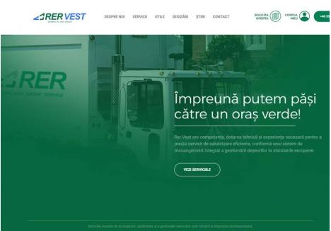 SIMPLU ŞI RAPID. Orice orădean poate obţine pe site-ul www.rervest.ro toate informaţiile despre operatorul de salubritate, dar şi să vadă cât are de plată şi să achite factura