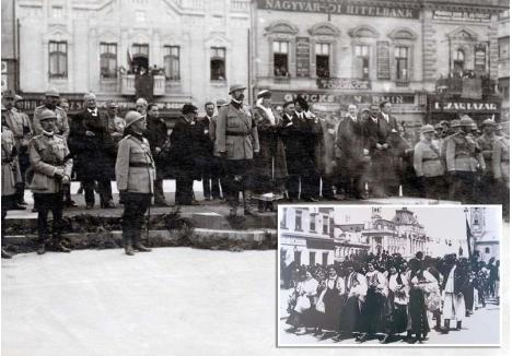 PRINTRE ORĂDENI. Pe 23 mai 1919, Oradea era un oraș în sărbătoare, cu străzile centrale și actuala Piață a Unirii decorate cu flori și steaguri. Sosiți pentru prima dată în oraș, Regele Ferdinand și Regina Maria i-au salutat pe militarii, pe orășenii și țăranii adunați să-i vadă, confirmând apartenența pământului bihorean la Regatul României