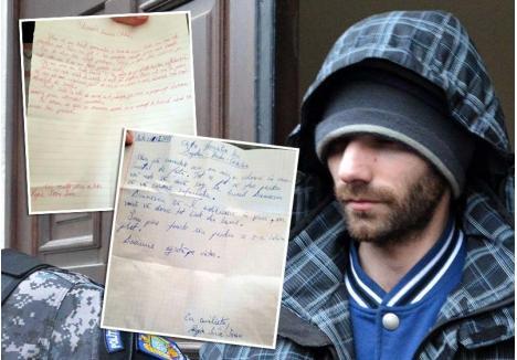 CAZ DE SPITAL. Sorin Rogia le-a trimis soţilor Bogdan două scrisori, una în perioada în care s-a aflat în Arestul Poliţiei Bihor şi cealaltă din Penitenciarul Oradea, după trimiterea în judecată. Luna trecută, criminalul a fost transferat în Penitenciarul Spital din Mioveni, singurul din ţară care are secţie de Psihiatrie