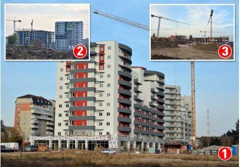 """ŢINTĂ, ORADEA. Majoritatea apartamentelor noi din cartierele Luceafărul (foto 1), Prima (foto 2) şi Ceyrat (foto 3) sunt contractate de investitori care vor să profite de oportunităţile pieţei locale. """"După ani de zile, investitorii din Cluj vin acum în Oradea. S-au săturat de Cluj pentru că e tot mai aglomerat, mai murdar şi mai scump, iar ei tocmai de asta au plecat din Capitală"""", spune un broker imobiliar"""