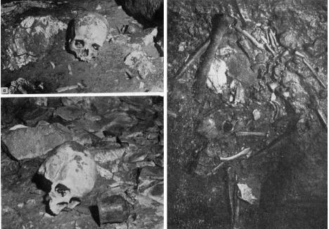 VESTIGII PREŢIOASE. Primii cercetători ai mormintelor din peştera secretă, speologul Gabor Halasi şi arheologul Emődi János, şi-au publicat observaţiile în două reviste de istorie şi arheologie din ţară, alături de opt fotografii în care au imortalizat câteva dintre vestigiile găsite: vase de ceramică, cranii şi oseminte umane. Nu au publicat şi fotografii ale bijuteriilor descoperite, probabil pentru a nu provoca vânătorii de comori