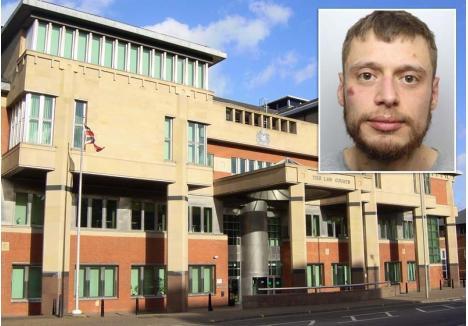 JUDECAT ÎN CĂTUŞE. Procesul intentat lui Luca Jelic (medalion) în Anglia s-a judecat la Curtea Coroanei din Sheffield (foto), unde tânărul era dus încătuşat de Poliţie, care l-a ţinut în arest pe tot parcursul dezbaterilor. Iniţial, orădeanul a respins acuzaţiile, dar în final a recunoscut, cerându-şi scuze pentru comportament. În timp ce autorităţile judiciare din România refuză să publice fotografii ori datele personale ale agresorilor sexuali, aceştia fiind judecaţi în şedinţe secrete, Poliţia din Sheffield a mediatizat imaginea şi numele orădeanului inclusiv pe Twitter, iar procesul său a fost public