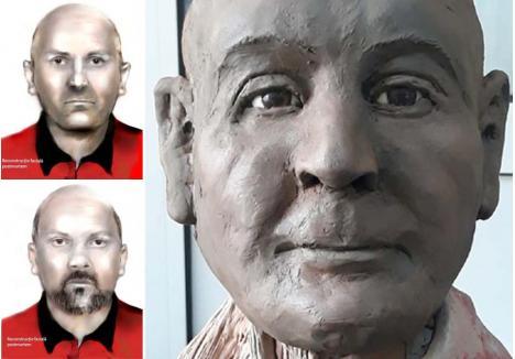 PORTRETE. Fizionomia lui Crăciun Pătcaş a fost reconstituită grafic de şeful Serviciului Criminalistic din Poliţia Bihor, Florin Lăzău, singurul poliţist român specializat în tehnica îmbătrânirii faciale, iar varianta 3D de elevul său, expertul criminalist Aurelian Bădulescu, de la Institutul Naţional de Criminalistică