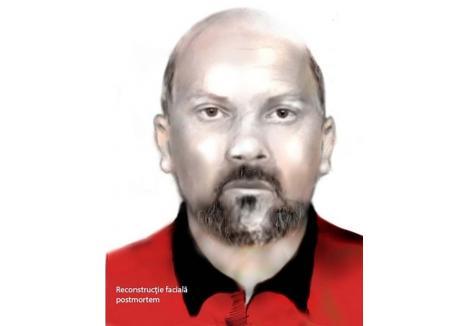 Şeful Serviciului Criminalistic din Poliţia Bihor, Florin Lăzău, singurul poliţist român specializat în tehnica îmbătrânirii faciale, a reconstruit grafic faţa victimei