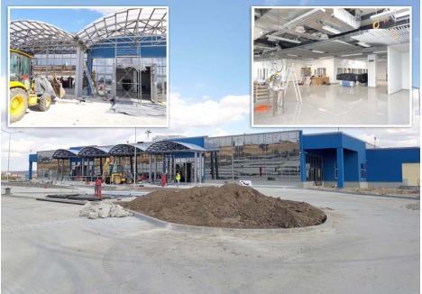 """NAGYVÁRADI NEMZETKÖZI REPÜLŐTÉR. Început în noiembrie 2017, noul terminal al Aeroportului trebuia să finalizat în august 2018, dar ar putea să nu fie gata nici la iarnă, fostul director Gheorghe Pasc penalizând constructorul chiar dacă """"de la Judeţ"""" acestuia i s-a promis iertarea. Parcă la schimb, """"toate inscripţiile care se vor realiza în afara şi în interiorul"""" clădirii trebuie executate şi în limba maghiară, în baza unei hotărâri luate în secret de politrucii pe care UDMR-PSD-ALDE i-a pus în Consiliul de Administraţie"""
