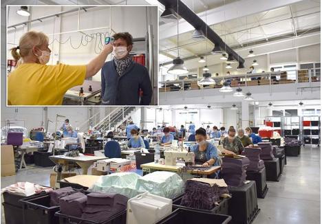 MĂSURI DE PROTECŢIE. Încă dinainte să devină o obligaţie impusă de Primărie, oricine intră în fabrica orădeană Decitex, de la directorul Cătălin Popa (foto) până la muncitori, este verificat dacă are sau nu febră