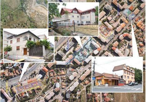 VINE DEMOLAREA! Primăria pregăteşte pentru anul viitor şi următorul demolarea a patru loturi de case din spatele blocurilor de pe strada Nufărului. Municipalitatea intenţionează să îşi prindă în buget 1 milion de euro pentru plata despăgubirilor, sumă în mod evident insuficientă. Fiecare lot de case cuprinde măcar o vilă cu etaj, aşa cum se întâmplă în străzile Grădina de fragi (stânga), Jules Verne (mijloc) sau Leonardo da Vinci (dreapta)