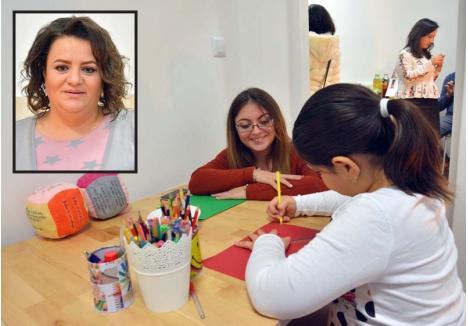 """ŞI TEME, ŞI TERAPIE. În centrul Consiliaris, copiii nu doar îşi vor face temele şi se vor juca, ci vor participa şi la şedinţe de terapie. """"Vrem să-i ajutăm să facă faţă problemelor. De multe ori copilul caută nişte răspunsuri, iar părintele nu poate sau nu ştie cum să i le ofere"""", spune psihologul Lorena Ţirtea (foto). Din păcate, Delia Cormos (medalion, stânga) nu a mai apucat să își vadă visul împlinit"""