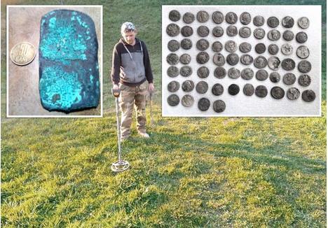 PE URMELE STRĂMOȘILOR. Dan Marta, din Gălășeni, este unul dintre norocoșii bihoreni care au făcut descoperiri importante. Ultimele obiecte găsite la marginea localității sale de baștină au fost trei tutuli, inele din bronz și o lamă a unei arme, tot din același material