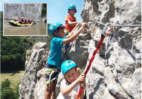 PENTRU CURAJOŞI. La finalul lunii, Aventura Trekking organizează în premieră o tabără care propune, între altele, căţărări pe traseul de Via Ferrata din Şuncuiuş şi sesiuni de rafting pe Crişul Repede