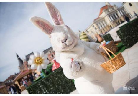 MUSAFIR DE SEAMĂ. Cum pe 20 aprilie în Piaţa Unirii vor avea loc manifestări ample dedicate eliberării Oradiei, Târgul de Paşti va avea loc în Cetate, unde cei mici se vor întâlni zilnic cu Iepuraşul