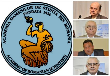 Pe lângă primul decan al FMF Oradea, Mircea Ifrim (primul de sus), din AOSR mai fac parte universitarii orădeni Teodor Leuca (al doilea), Radu Brejea (al treilea) şi Mihai Drecin (al patrulea)