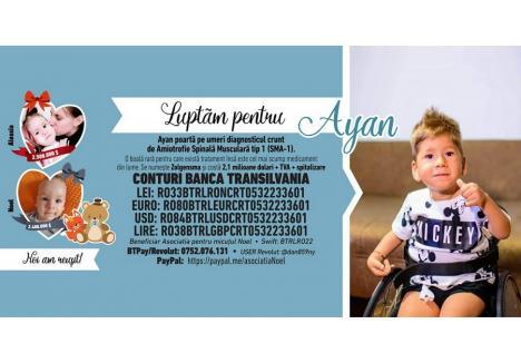 """(Sursa foto: Facebook - grupul """"Uniți pentru Ayan SMA1"""")"""