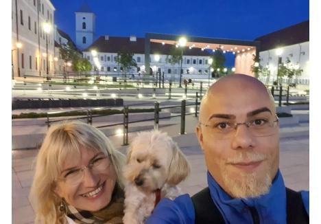 Thurzo Zoltan a fost însoţit în călătoria în Croaţia de partenera sa de viaţă şi de căţeluşa lor