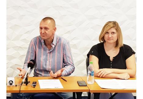 Nicolae Pop şi Simona Bişboacă, doi dintre iniţiatorii proiectului Good Chefs